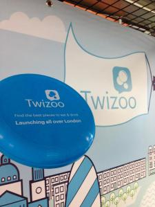 Promotional frisbee at Twizoo launch
